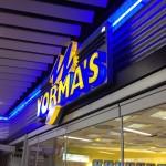 Leuchtwerbung Yormas Stuttgart