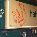 Hahn Biomasse, Sattelzug, Beklebung