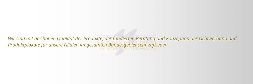 S&S Werbung, Regensburg: YORMA'S AG, Plattling