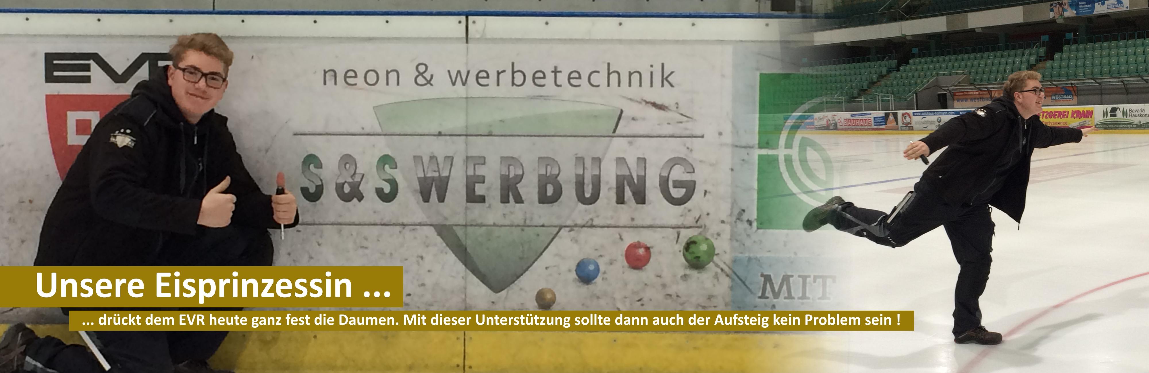 S&S Werbung, Regensburg: Daumen drücken für den EVR