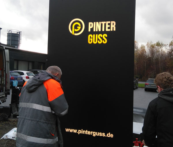 Referenzprojekt Pinter Guss Pylon