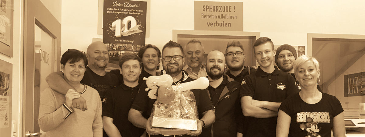 S&S Werbung, Regensburg: 10 Jahre Ruckgaber – Wir sagen DANKE!